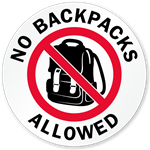 No Backpacks